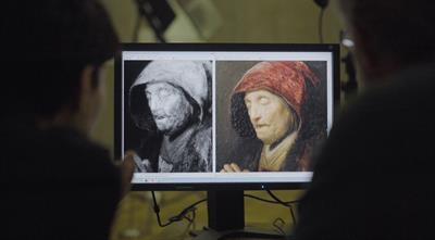 Rembrandt Betende alte Frau